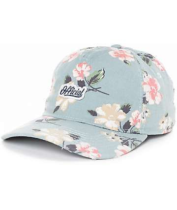 Official Blackpool Blue Floral Snapback Hat