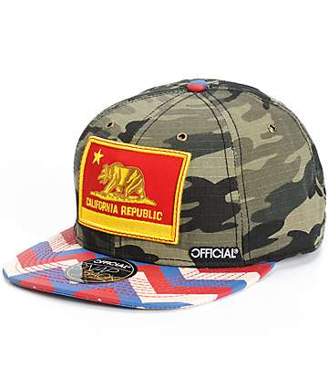 Official Cali Zag Camo Snapback Hat