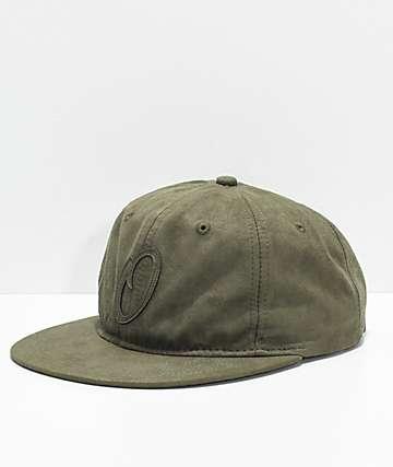 Official JR Pitch Olive Suede Strapback Hat