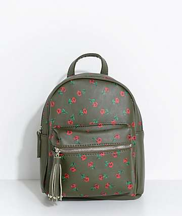 Olive Rose Mini Backpack