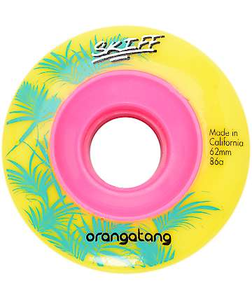 Orangatang Skiff 62mm Yellow Wheels