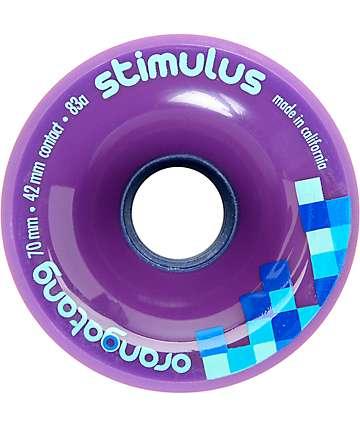 Orangatang Stimulus 70mm 83a Purple Longboard Wheels