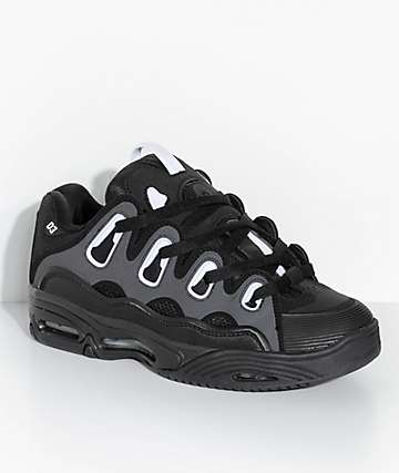 Osiris D3 2001 Black & White Skate Shoes