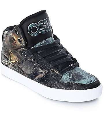 Osiris NYC 83 Vulc Huit Skull Army Skate Shoes