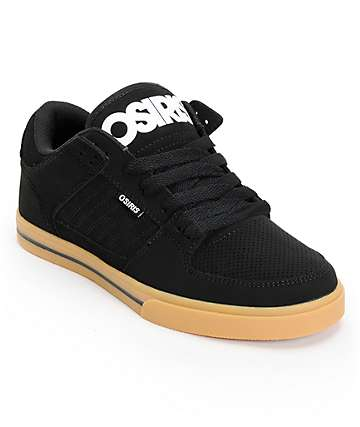 Osiris Protocol Black, White, & Gum Skate Shoes