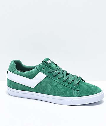 PONY Top Star Lo Kelly Green & White Suede Shoes