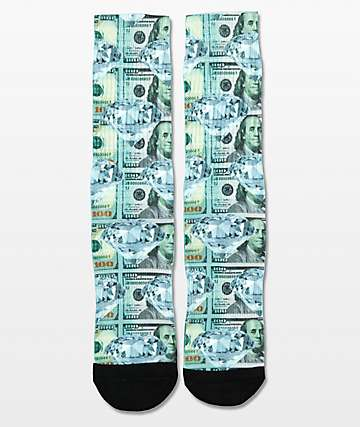 PSD Money Diamond Crew Socks