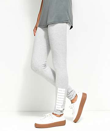 PUMA Archive Logo T7 Heather Grey Leggings