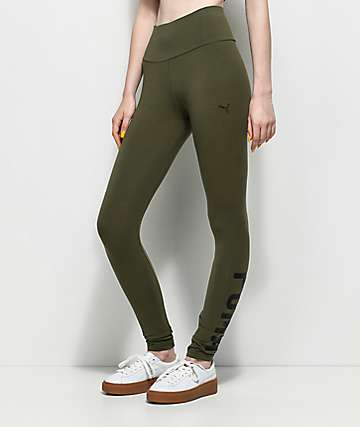 PUMA Athletic Olive Leggings
