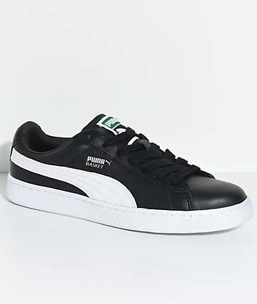 PUMA Basket Classic LFS Black & White Shoes