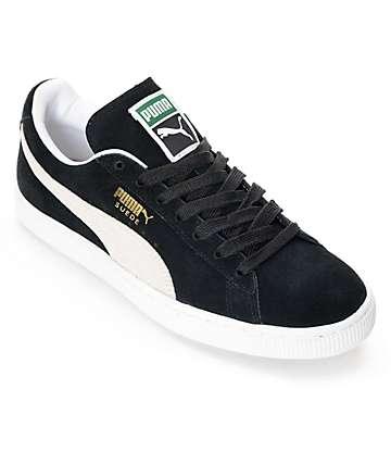 PUMA Classic + zapatos de ante negro