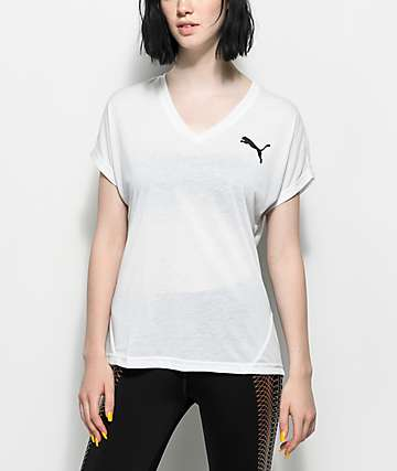 PUMA Elevated Sporty White T-Shirt