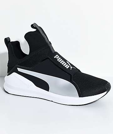 PUMA Fierce Core Black & Silver Shoes