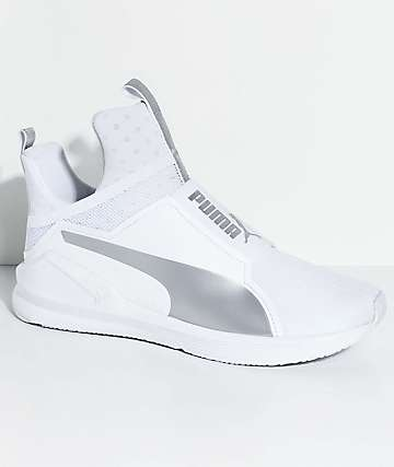 PUMA Fierce Core White & Silver Shoes