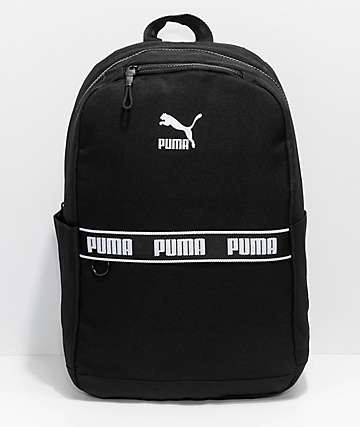 PUMA Mainline Linear Black Backpack