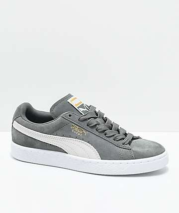 PUMA Suede Classic Agave Green & White Shoes