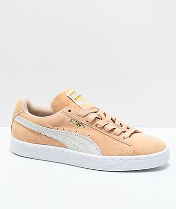 PUMA Suede Classic zapatos en blanco y marrón natural
