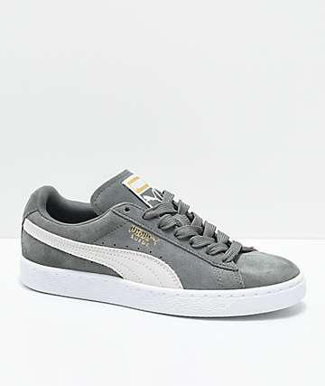 PUMA Suede Classic zapatos en blanco y verde gris