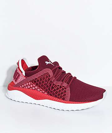 PUMA Tsugi Netfit Toreador Red & White Shoes