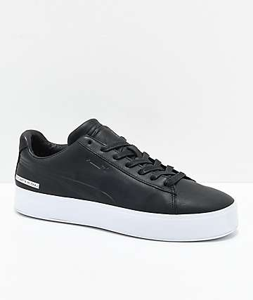 PUMA x Black Scale Court Platform Black & White Shoes