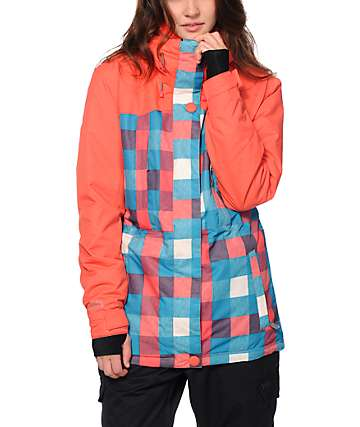 PWDR Room Avenue Plaid 5K Snowboard Jacket