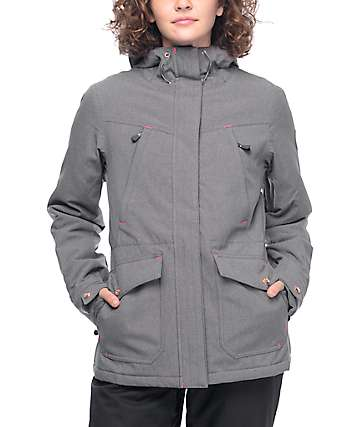 PWDR Room Becca chaqueta de snowboard en gris