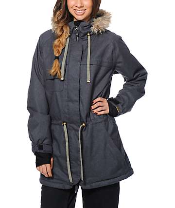 PWDR Room Church Charcoal 10K Snowboard Jacket