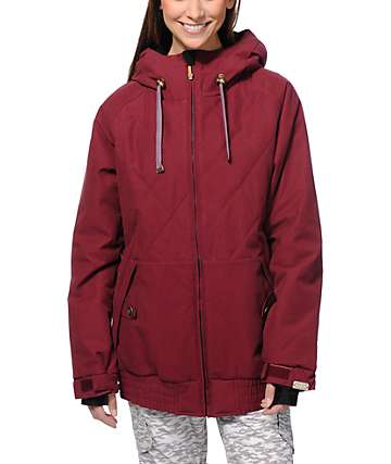 PWDR Room Cupid Quilt Red 10K Snowboard Jacket