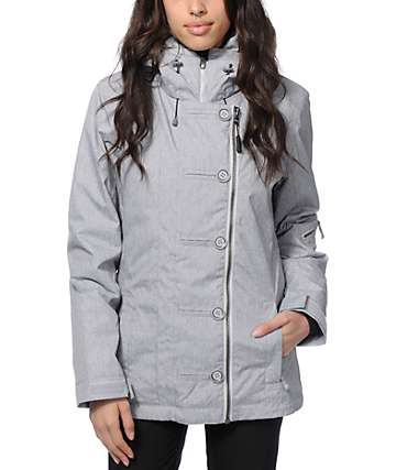 PWDR Room Ravine Grey 10K Snowboard Jacket