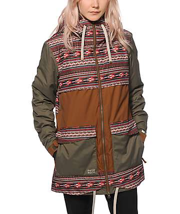 PWDR Room Village Tribal 10K Snowboard Jacket