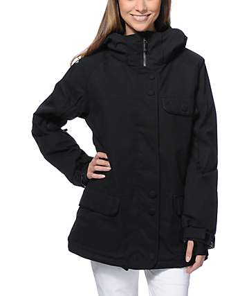 PWDR Room Vow Black 10K Snowboard Jacket
