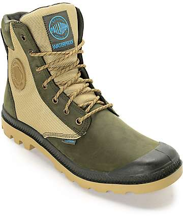 Palladium Pampa Sport Cuff WPN Army and Khaki Boots