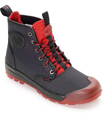 Palladium Pampatech Hi TX Black & Red Boots
