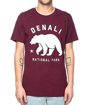 Parks Project AK Denali camiseta en color vino