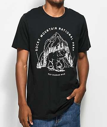 Parks Project CO Rocky Mountain Bear Black T-Shirt