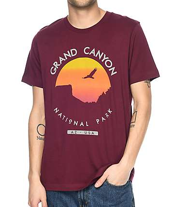 Parks Project UT Grand Canyon Sunset Burgundy T-Shirt