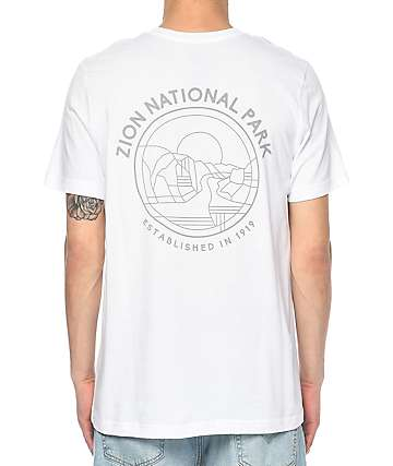 Parks Project UT Zion Outlines White T-Shirt