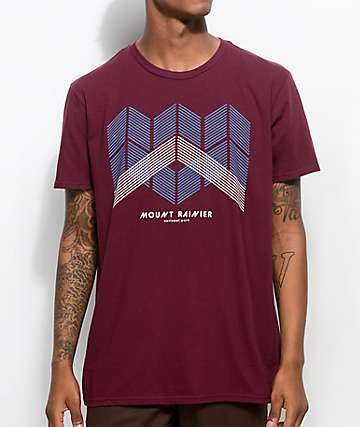 Parks Project WA Mt. Rainier Geo Mtn. Maroon T-Shirt