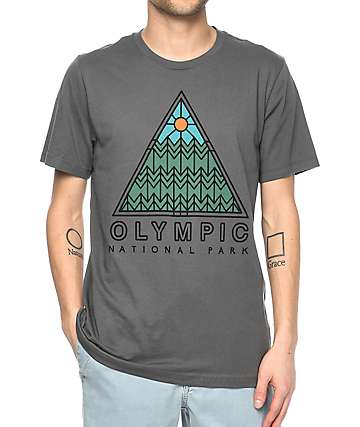 Parks Project WA Olympic Pyramid Charcoal T-Shirt