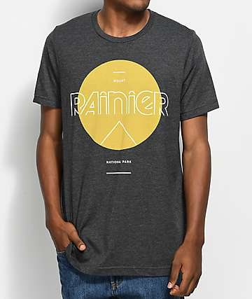 Parks Project WA Rainier Mod Sun camiseta gris