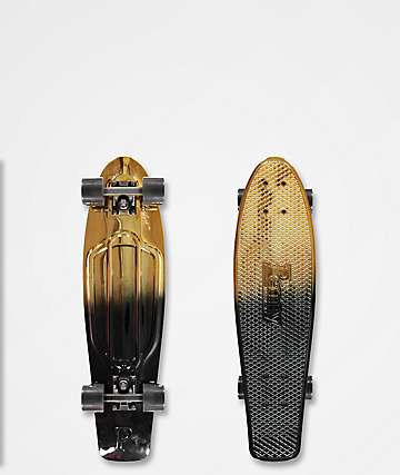 "Penny Nickel Black & Gold 27"" Cruiser Complete Skateboard"