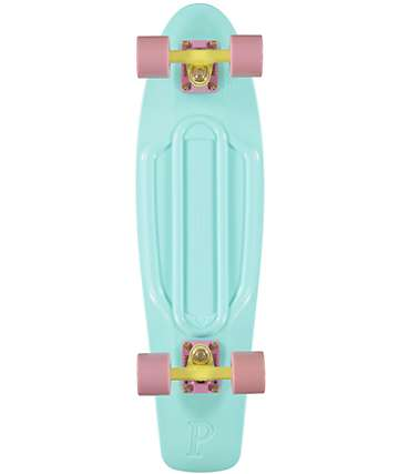 "Penny Nickel Mint Pastel 27""  Cruiser Complete Skateboard"