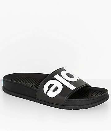 People Footwear Lennon Really Black Slide Sandals