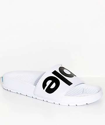 People Footwear Lennon Yeti White Slide Sandals