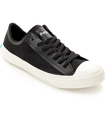 People Footwear The Phillips 3-D Mesh Black & White Shoes