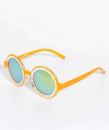 Petals & Peacocks Extasy Orange Sunglasses