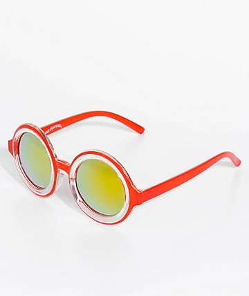 Petals & Peacocks Extasy Red Sunglasses
