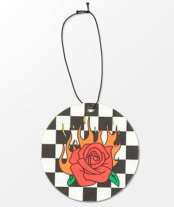 Petals & Peacocks Flaming Rose Air Freshener