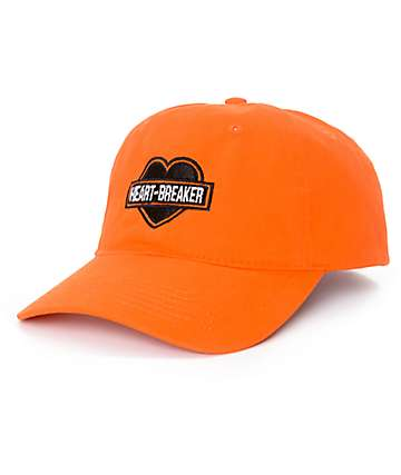 Petals & Peacocks Heartbreaker gorra strapback en color naranja