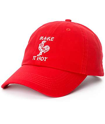 Petals & Peacocks Make It Hot Red Strapback Hat